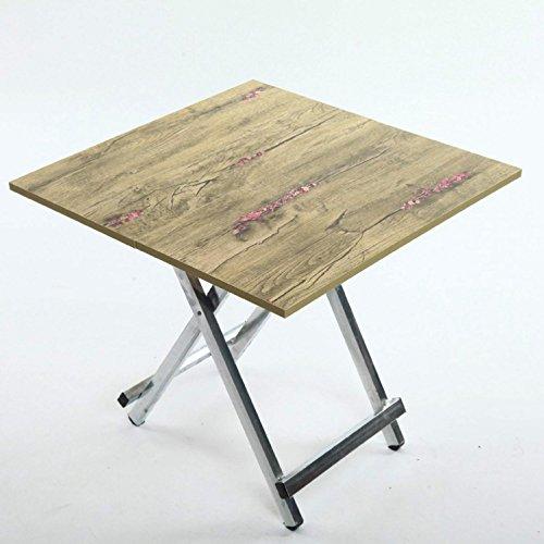 GAOJIAN Table Pliante Petite Table à Manger pour Le ménage Portable à l'extérieur Peut être étalée Table carrée Longueur de la Longueur 60Cm Large 60Cm High 55Cm