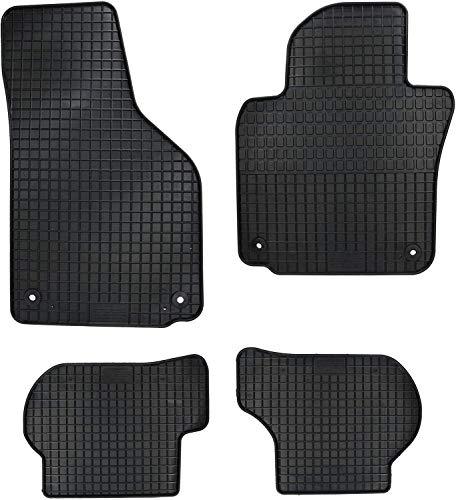 PETEX Gummimatten passend für 1er (E81/E82/E87/E88) ab 2004 / (F20) ab 2011-2019 5-Türer / (F21) ab 2012-2019 3-Türer / X1 (E84) ab 2009-2015 / 2er (F22) Coupe ab 2014 Fußmatten schwarz 4-teilig