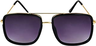ETRG Black Square Metal Body Men's and Women's Sunglass (55)