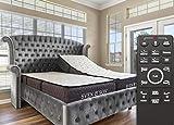 "Sven & Son Split King Adjustable Bed Base Frame + 14"" Luxury Cool Gel Memory Foam Hybrid Mattress, Head Up Foot Up, USB Ports, Zero Gravity, Interactive Dual Massage, Wireless, Classic (Split King)"