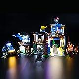 BRIKSMAX Kit de Iluminación Led para Lego City Police Montaña: Comisaria Policía,Compatible con Ladrillos de Construcción Lego Modelo 60174, Juego de Legos no Incluido