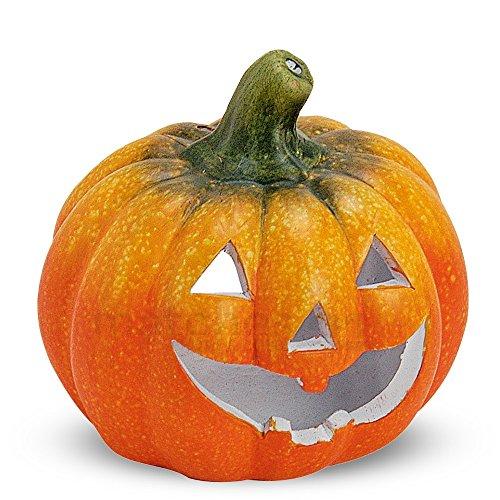 matches21 Tolle Herbstdeko Kürbis Windlicht Herbst Dekoration Halloween Türkürbis aus Ton 14x13 cm