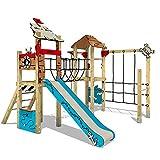 Spielplatzgerät aus Massivholz WICKEY PRO MAGIC Treasure+ mit Rutsche - Für den öffentlichen Bereich - Ideal geeignet für Kita, Schwimmbad, Schule, Hotel, Restaurant, Ferienpark & Campingplatz