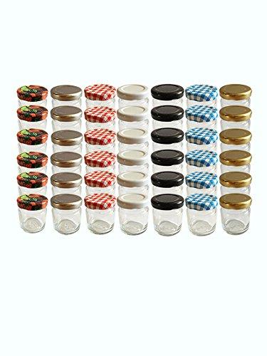 30er Set Sturzgläser Mini Gläser 37 ml Rundgläser Marmeladengläser Einweckgläser Senf, Honig, Gläser, Einmachgläser, Portionsgläser, Probiergläser (Obst)