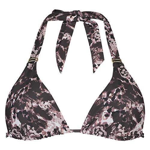 Triangel-Bikinitop mit Animal Print Schwarz M