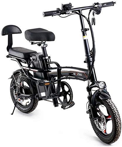 Bici elettrica, Pieghevole Bike elettrica 14 'Super leggera pendolare urbano pieghevole e-bike, tre modalità equitazione, portatile facile da archiviare, display a LED bicicletta elettrica 400W motore