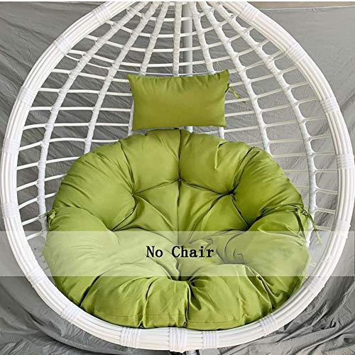 Extra bequemes und weiches Nest-Rundkissen, hängendes Eierstuhl-Hängekorb-Sitzkissen, überfülltes Stuhlkissen Grün D105 cm (41 Zoll)