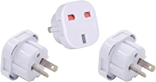 INIBUD Pack of 3 UK to AU Australia New Zealand Travel Adapter White