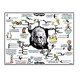 DNJKSA Albert Einstein Wissenschaft Mind Map Physik