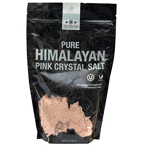 The Spice Lab Himalayan Pink Salt - Fine Ground 2 Pound - Gourmet Pure Crystal - Pink Himalayan Salt is Nutrient and Mineral Dense for Health - Kosher & Natural Certified - Excellent Bath Salt
