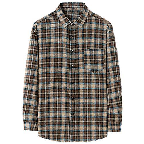 N\P Camisa de hombre a cuadros manga larga primavera y otoño versátil camisa