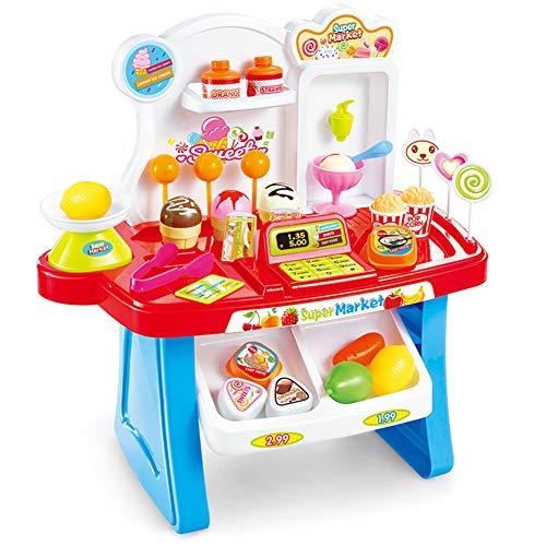 Faironly - Juguete de simulación Multifuncional para niños, Mini supermercado, Cashier, Vendor, casero, Juguetes, música