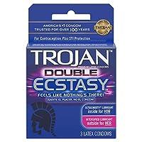 Trojan Double Ecstasy Condom - Box Of 3 by Paradise Marketing