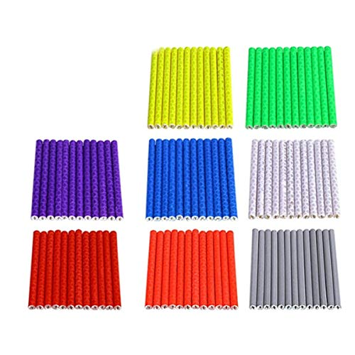 Tiamu 72Pcs Bike Spoke Bike Reflectors for Kids Mountain and Road Colorful Wheel Decoration Bike Wheel Reflectors Spoke