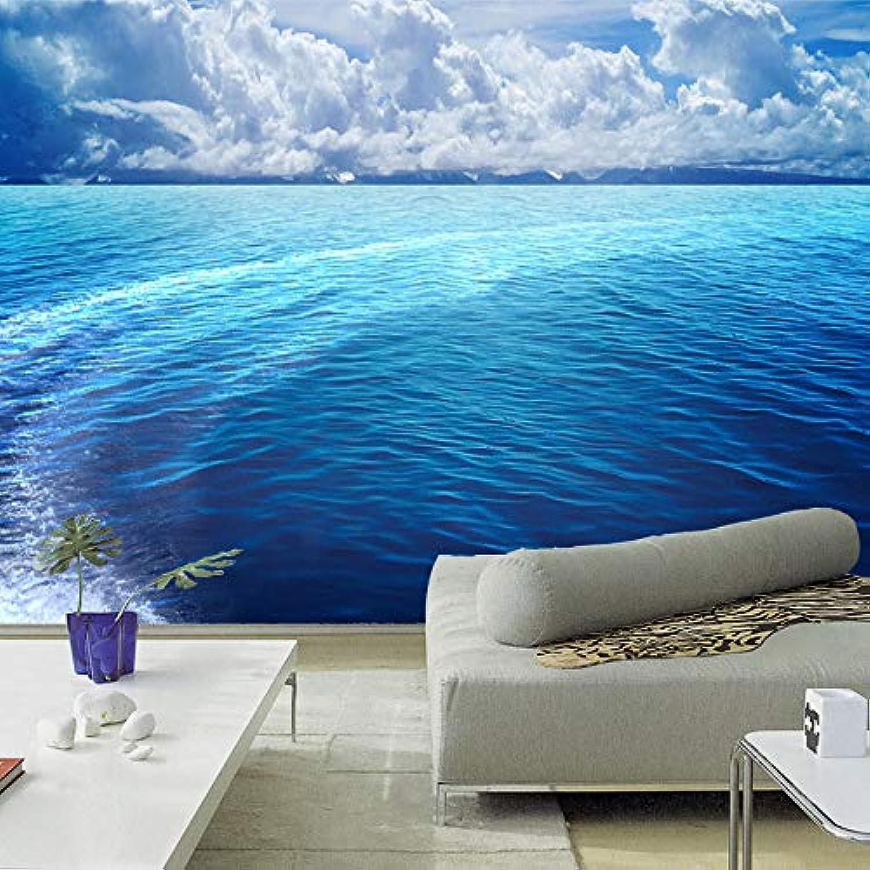 entrega gratis Papel Pintado 3D 3D 3D 3D azul Water Mural Wallpaper Roll Waves Superficie Del Mar Paisaje Sala De Estar Sofá Ropa De Cama Tv Fondo Mural De Papel De Parojo-150X120CM  venta con descuento