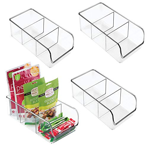 mDesign Plastic Food Packet Kitchen Storage Organizer Bin Caddy