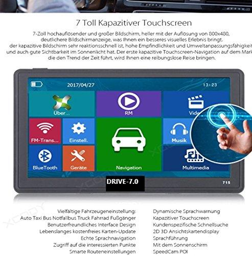 7 Zoll GPS Navigationssysteme Navi Drive-7.0 MIT TMC für LKW,PKW,WOHNMOBIL, Bus. 256MB. Kapazitiver Touchscreen. DEUTSCHE HÄNDLER. Radarwarner, Kostenlos Update, 8GB. Gratis Sonnenblende