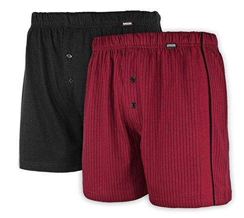 ADAMO Doppelpack Boxershorts in Bordo/schwarz in großen Größen von Gr. 8 bis Gr. 20