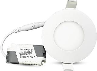 LED Deckenleuchte dimmbar rund Ø215mm 18W Schwarz 3000K-4000K-6000K Einbauspot