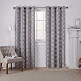 Exclusive Home Barroco Cortinas Cortina Panel par, Gris, 54 x 84-Inch, 2 Piezas