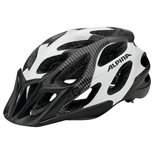 ALPINA Thunder Fahrradhelm, Black-White, 57-62 cm