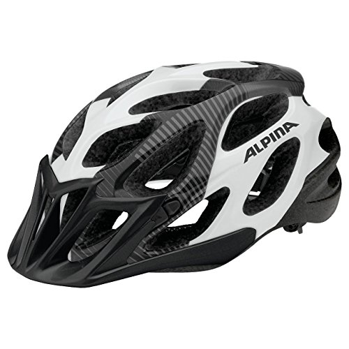 ALPINA Thunder Rennrad-Helm, Black/White, 52-57