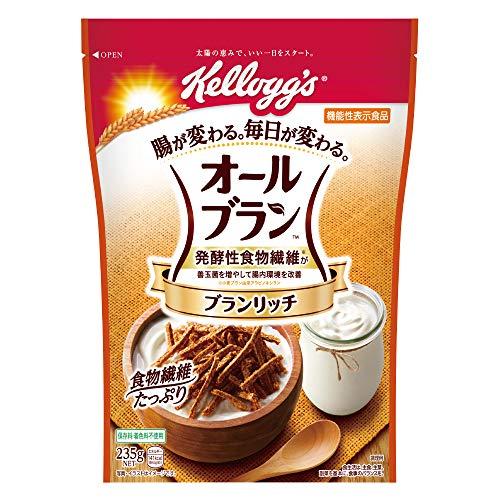 ケロッグ オールブラン ブランリッチ 235g ×6袋 機能性表示食品