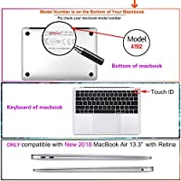 FULY-CASE プラスチックウルトラスリムライトハードシェルケース対応のある最新のMacBook Air 13インチRetinaディスプレイタッチIDUSキーボードカバー A1932 (パイナップル 0399)