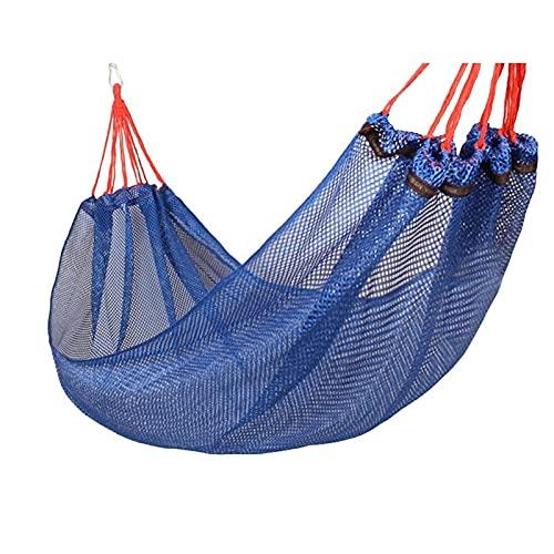 caihuashopping Hamaca Portátil Hamaca de Malla al Aire Libre Hamaca Hamaca Swing Shoil Colgante para jardín Playa Camping Senderismo Hamaca (Color : Blue)