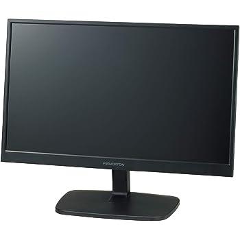 プリンストン モニター 21.5型 (フルHD 1920×1080/HDMI×1,VGA×1,DVI×1/ブルーライト軽減/広視野角/スピーカー内蔵) ブラック PTFBDE-22W