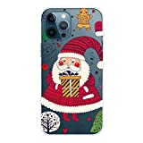 MUTOUREN Carcasa para iPhone 11 Pro de silicona transparente para Navidad, ultrafina, antiarañazos,...