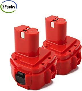 Creabest 2Pack Upgraded 3500mAh Ni-MH for Makita 12V Battery 192598-2 1220 1200 1201 1222 1233 1234 1235 PA12 1235A 1235B 1235F 192696-2 192698-8 192681-5 192698-A 193138-9