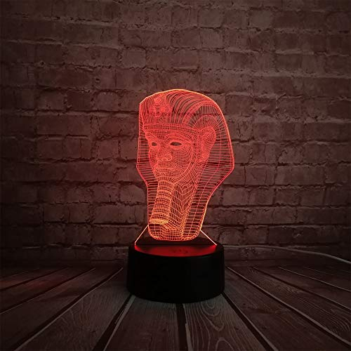 Suhang 3D Sphinx Egyptische Pharaone LED lamp Night Light Touch afstandsbediening kleuren decoratie voor kleedkamer Touch And Remote