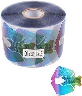 Finger Angel 500 unidades de pegatinas para uñas de gel UV de acrílico transparente
