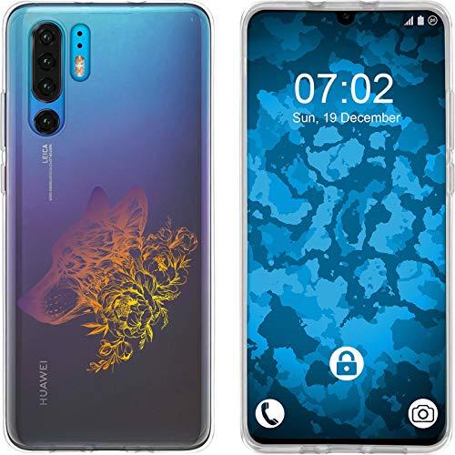 Preisvergleich Produktbild PhoneNatic Case kompatibel mit Huawei P30 Pro Silikon-Hülle Floral Wolf M3-3