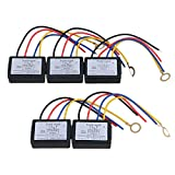 BQLZR Black DC 6-12V LED Touch Dimmer Switch XD-614 Sensor Lamp Accesories Safety Pack of 5