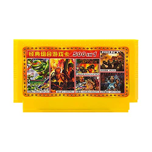 Keyohome Handheld Spielkonsole Card, Klassische Spielen Retro Spielkonsole für Kinder und Erwachsene Geschenk, Unterstützung TV Player, tragbare Retro-Videospielkonsole (500 In 1)