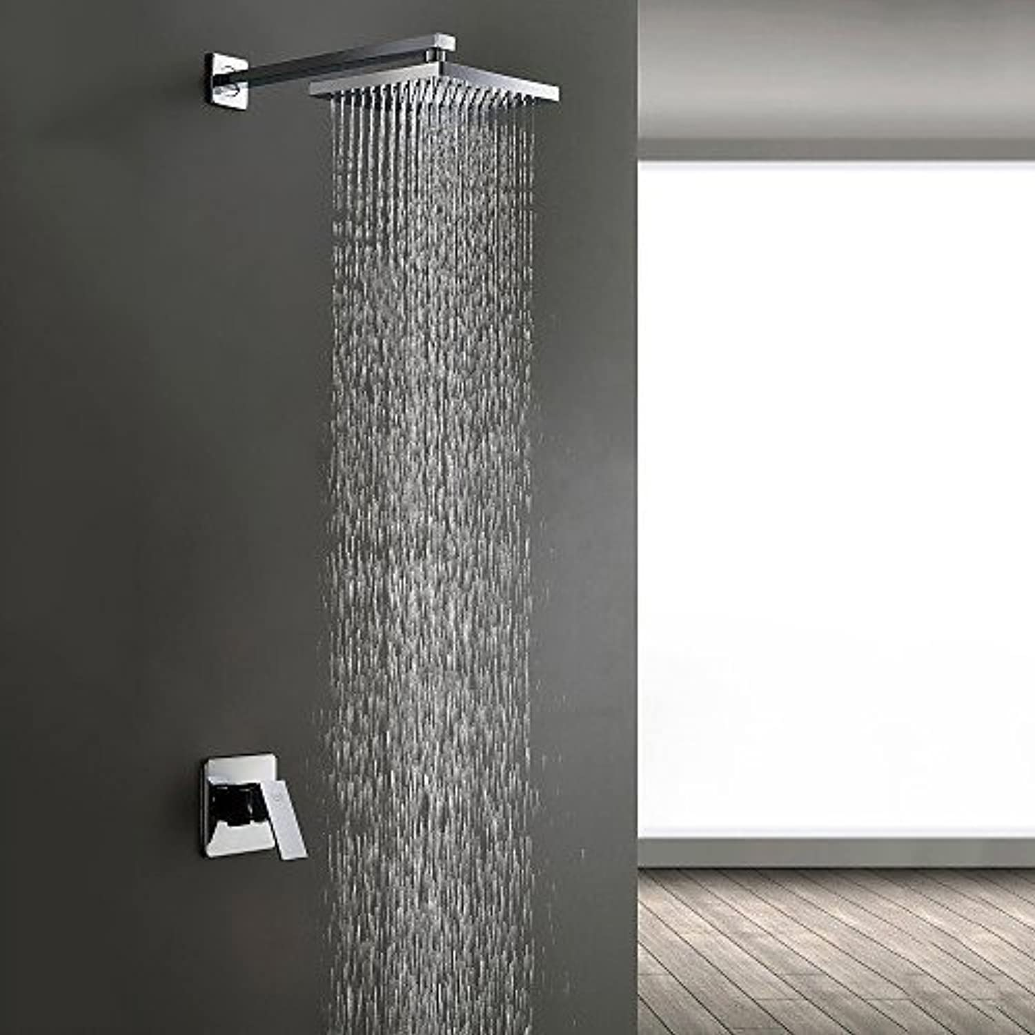 C.N. CN Shower Set into the Wall Shower Chrome Single Handle Shower Faucet