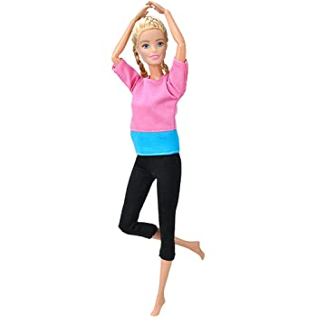 E-TING Handmade Yoga Clothes Gym Running Sportswear for Girl Doll 2 Sets Yoga Clothes