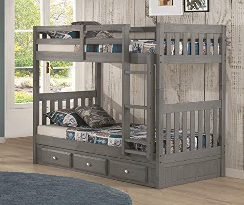 American Furniture Classics bunk bed, charcoal grey