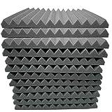 Hukz 12 Stück Akustikschaumstoff Schallschutz Schaum Matte