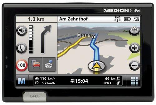 Medion Gopal E 4435 TMC Tragbares Navigationssystem (10,9 cm (4,3 Zoll) Touchscreen-Display, USB 2.0) schwarz