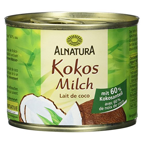 Alnatura Bio Kokosmilch, vegan, 12er Pack (12 x 200 ml)