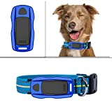 ZEERKEER Pet GPS Tracker, Dog GPS Tracking and Pet Finder, The GPS Dog Collar Attachment, Locator Waterproof, Tracking Device for Dogs, Cats, Pets Activity Monitor(Blue)