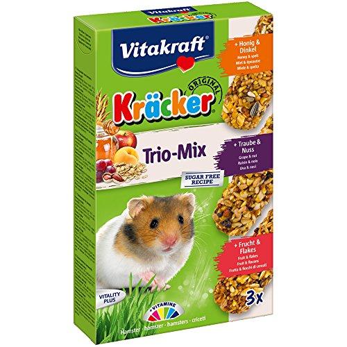 Vitakraft KRÄCKER Trio-Mix, knabber Barre pour hamster...