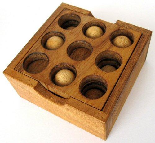 Golf Puzzle – 3D Puzzle – Denkspiel – Knobelspiel – Geduldspiel – Logikspiel aus Holz - 2