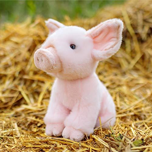 Unbekannt Ferkel Animigos Kuscheltier in rosa - Schweinchen Animigos Stofftier Plüschtier