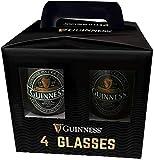 Confezione da 4 bicchieri ufficiali Guinness con design rubino e Irlanda