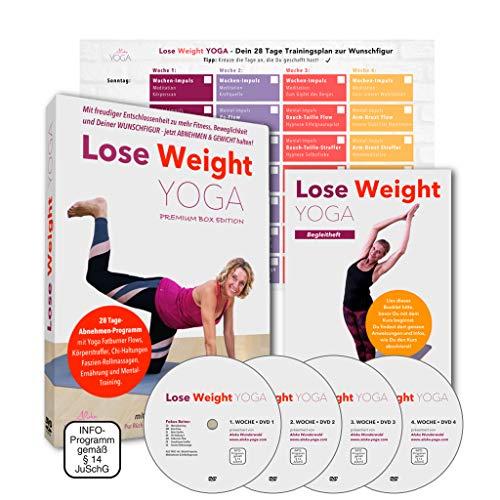Lose Weight Yoga Abnehmen DVD - Premium Box: 28 Tage Programm mit dynamischen Yoga. Jetzt abnehmen mit Yoga und Gewicht halten. Für Anfänger und Fortgeschrittene