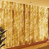 HXWEIYE 300LED Fairy Curtain Lights, USB Plug in 8 Modes Fairy...